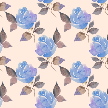 flower petals: Background with beautiful roses. Seamless pattern with hand-drawn flowers 61