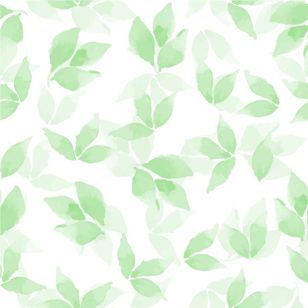 floral seamless pattern: Floral background. Watercolor leaves in vector 4