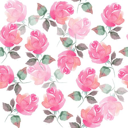 handdrawn: Seamless pattern with hand-drawn flowers