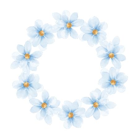 dessin fleur: ensemble floral d�licat. cadre Round 30