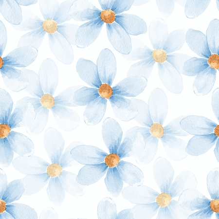 flower designs: Delicate floral set. Seamless pattern 30 Stock Photo