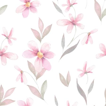 Delicate floral set. Seamless pattern 40 写真素材