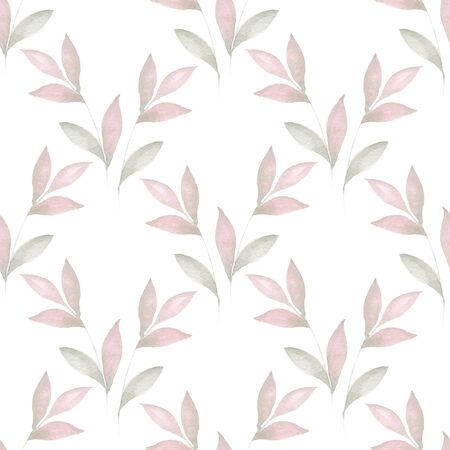 delicate: Delicate floral set. Seamless pattern 41 Stock Photo
