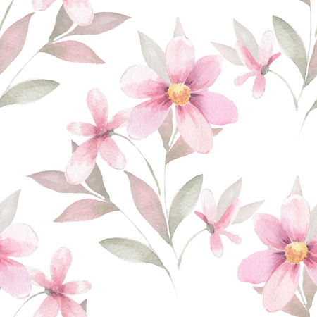 delicate: Delicate floral set. Seamless pattern 42