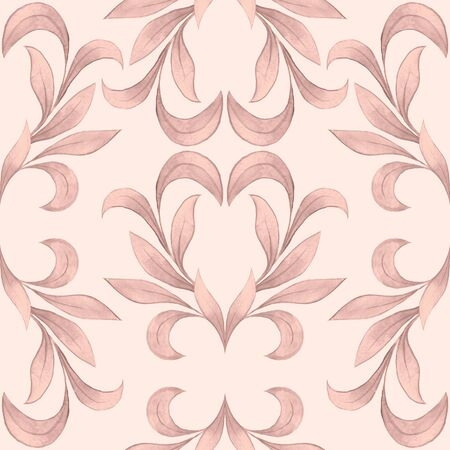 raster artistic: Vintage pattern 3. Abstract seamless floral background