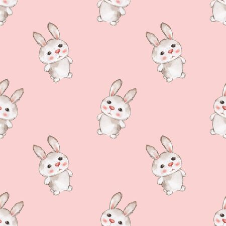 small animals: Small animals set. Bunny pattern 2