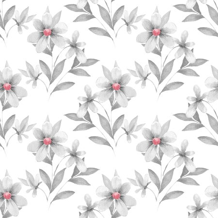 Delicate floral set. Seamless pattern 53