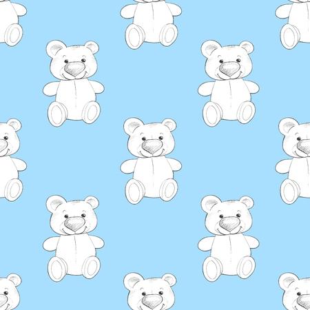 Cute teddy. Seamless pattern. Background for design 2 Standard-Bild - 122039519