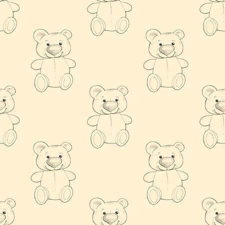 Cute teddy. Seamless pattern. Background for design 1 Standard-Bild - 122039520
