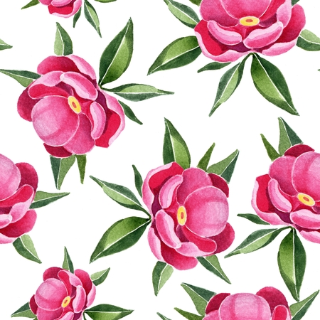 painted the cover illustration: Peonies. Seamless pattern 3. Floral background