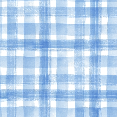 Watercolor stripes. Checkered seamless pattern