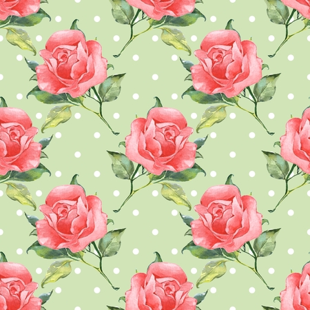 Floral seamless pattern with roses 5