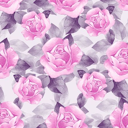 Floral seamless pattern with beautiful roses