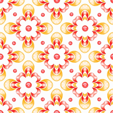 Abstract ornamental watercolor seamless pattern
