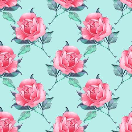 Floral seamless pattern with roses 8