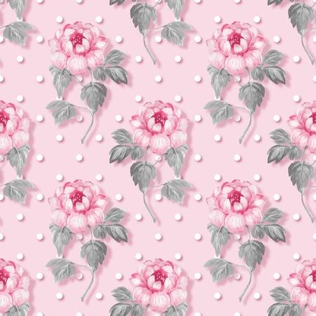 Bloemen naadloos patroon met roze bloemen