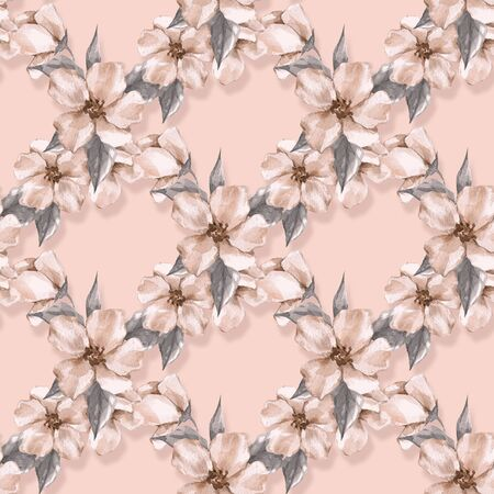 Floral seamless pattern with delicate flowers 5 Stock Photo