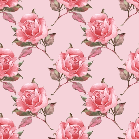 Floral seamless pattern with roses 10