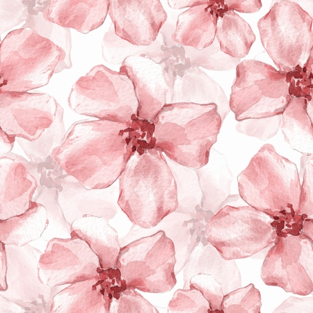 Floral seamless pattern. Watercolor background with delicate flowers 6
