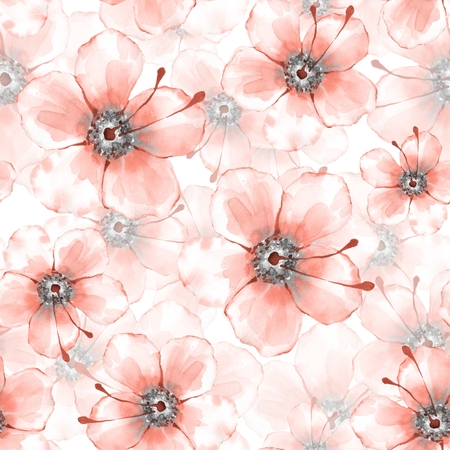 Floral seamless pattern with delicate flowers Stock Photo