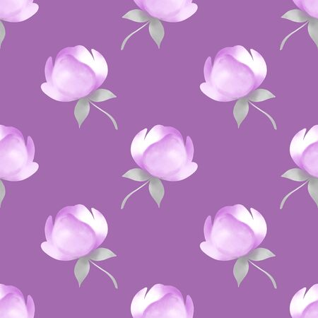 Seamless pattern with spring flowers. Floral background
