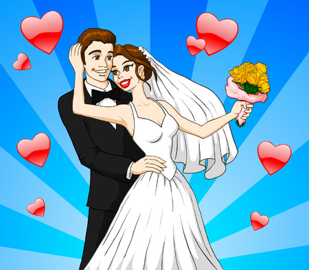 bridegroom: Married Couple Illustration