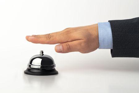 Hij is rinkelen de bel voor hulp