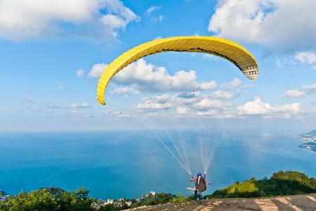 yellow para glide
