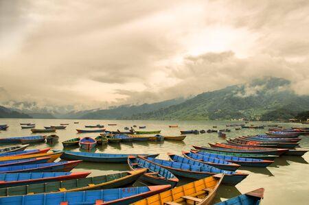 caique on phewa lake pokhara nepal  Reklamní fotografie