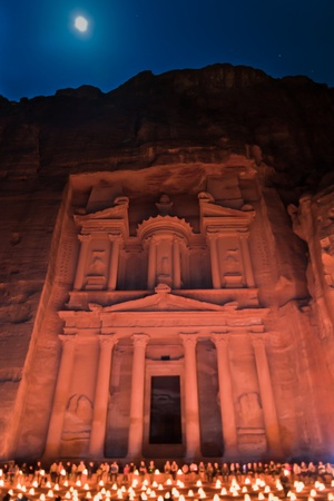 Ancient Petra city in jordan photo