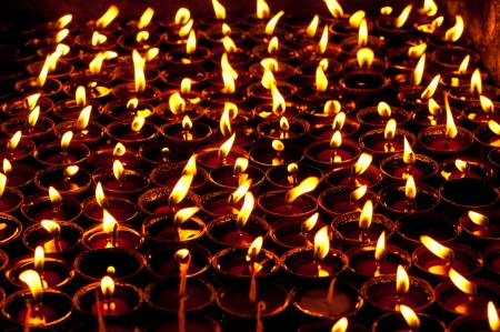 shree: Candles in the dark  Shree Boudhanath temple  Nepal