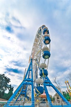 ferriswheel: Big ferris wheel in the lunapark Stock Photo