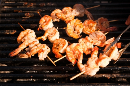 Fresh Jumbo shrimp barbeque Korean style