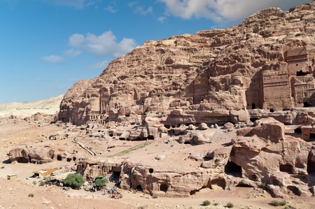 Old residental area in ancient Petra city in jordan Stock Photo - 15769123