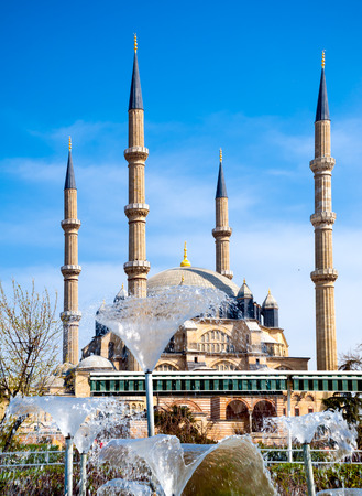 camii: Front view of Selimiye Mosque Turkish Selimiye Camii in Edirne Turkey