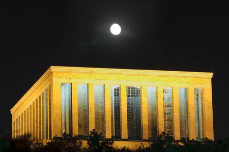 Anitkabir at night Mustafa Kemal Ataturk Mausoleum, in Ankara Turkey Reklamní fotografie