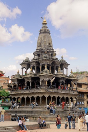 shankar: KATHMANDU, NEPAL - JULY 23, 2013: Hari Shankar Temple, Taleju Temple, Taleju Bell, Degutalle Temple at Durbar Sqaure in Patan, Lalitpur city.Durbar Squares in the Kathmandu Valley all of which are UNESCO World Heritage Sites.
