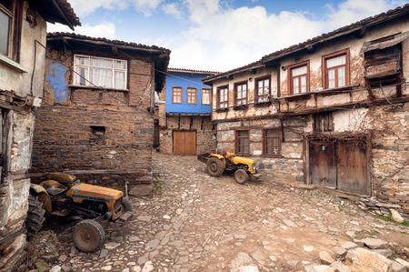 BURSA, TURKEY - JANUARY 26, 2015: a street view of 700 years old Ottoman village. The historical texture of the village has been well protected. The village accepted as Unesco world heritage site