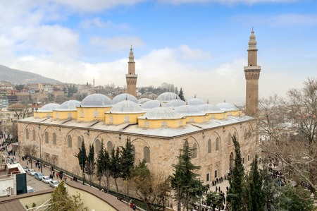 biggest: Bursa Grand Mosque Turkish Ulu Cami is the biggest historical mosque in Bursa, Turkey built in 1399 Stock Photo