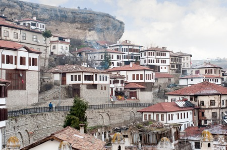 safran: KARABUK, TURKEY - JAN 21, 2016: City of Safranbolu. The old town preserves many old buildings with 1008 registered historical artifacts.Safranbolu was added to the list of UNESCO World Heritage sites