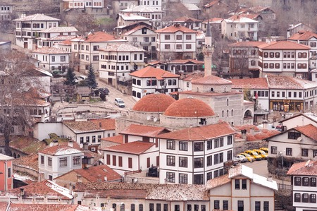 hamam: KARABUK, TURKEY - JAN 21, 2016: City of Safranbolu. The old town preserves many old buildings with 1008 registered historical artifacts.Safranbolu was added to the list of UNESCO World Heritage sites.