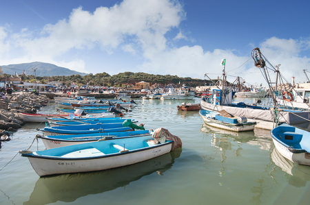 TIPAZA, ALGERIA - APR 9, 2016: Port of Tipaza(Tipasa). The Urban County seat is Khemisti City, there are two secondary cities, Khemisti Port (formerly Chiffalo) and Othmane Tolba (former La Vigie)