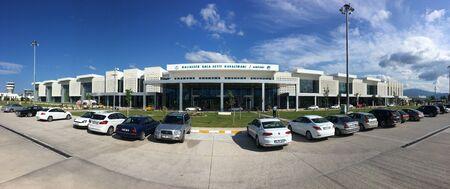 BALIKESIR, TURKEY - MAY 27 2016:Edremit koca Seyit International airport.Previously known as Balikesir Edremit Korfez Airport.The name was changed to Balikesir Koca Seyit Airport in 2012 byTurkish Gov Editöryel