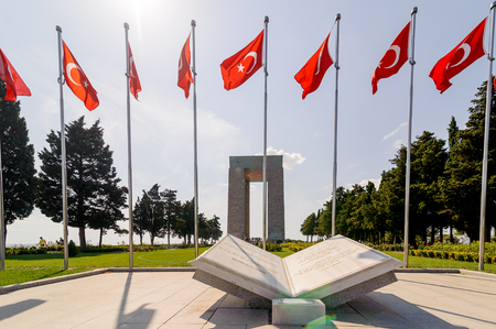Canakkale Martyrs Memorial is a war memorial commemorating the service of about 253,000 Turkish soldiers who participated at the Battle of Gallipoli which took place from April - December 1915.