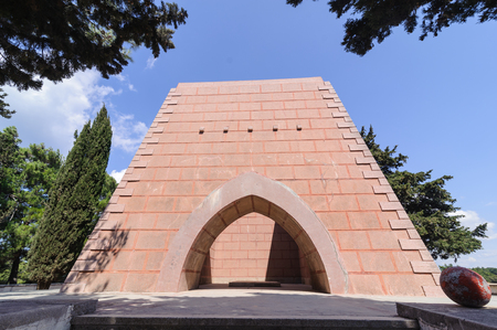gully: Nuri Yamut memorial and cemetery at the top of Gully Ravine,Gallipoli part of the 1915 campaign in the First World War