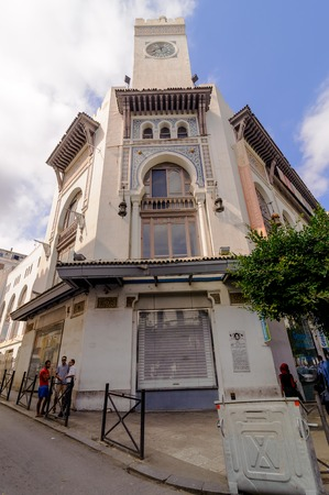 ALGIERS, ALGERIA - SEP 24, 2016:The Museum of Modern Art of Algiers (MaMa) is an art museum in Algiers.The building, built between 1901 and 1909 was first used as a department store Galeries de France