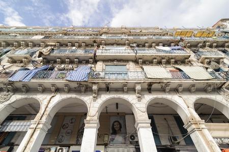 algerian: ALGIERS, ALGERIA - SEP 24, 2016:French colonial buildings in Algiers Algeria.Buildings are being renovated by Algerian government.