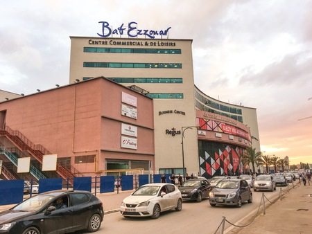 ALGIERS, ALGERIA - OCT 1, 2016: Bab Ezzouar shopping mall. Building is in a new business district, Algiers Bab-Ezzouar office space is a lively place to work and meet with a high visibility location. Sajtókép