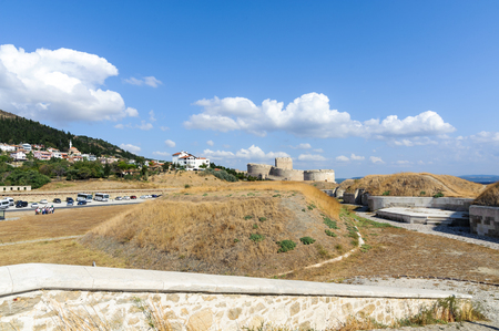 corporal: CANAKKALE, TURKEY- SEP 12, 2016: Rumeli Mecidiye emplacement fort (Turkish Tabya). This emplacement hit HMS Ocean battleship of the British Royal Navy ship on 18 march 1915 at gallipoli ww1.
