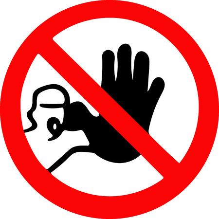no pase: no pase la señal de stop. Símbolo de advertencia de prohibición roja sobre fondo blanco Foto de archivo